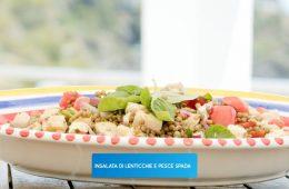 insalata di pesce spada e lenticchie