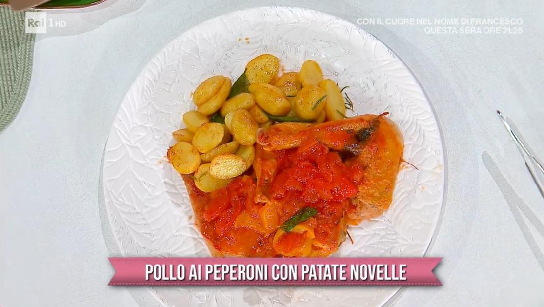 pollo ai peperoni con patate novelle di Gian Piero Fava
