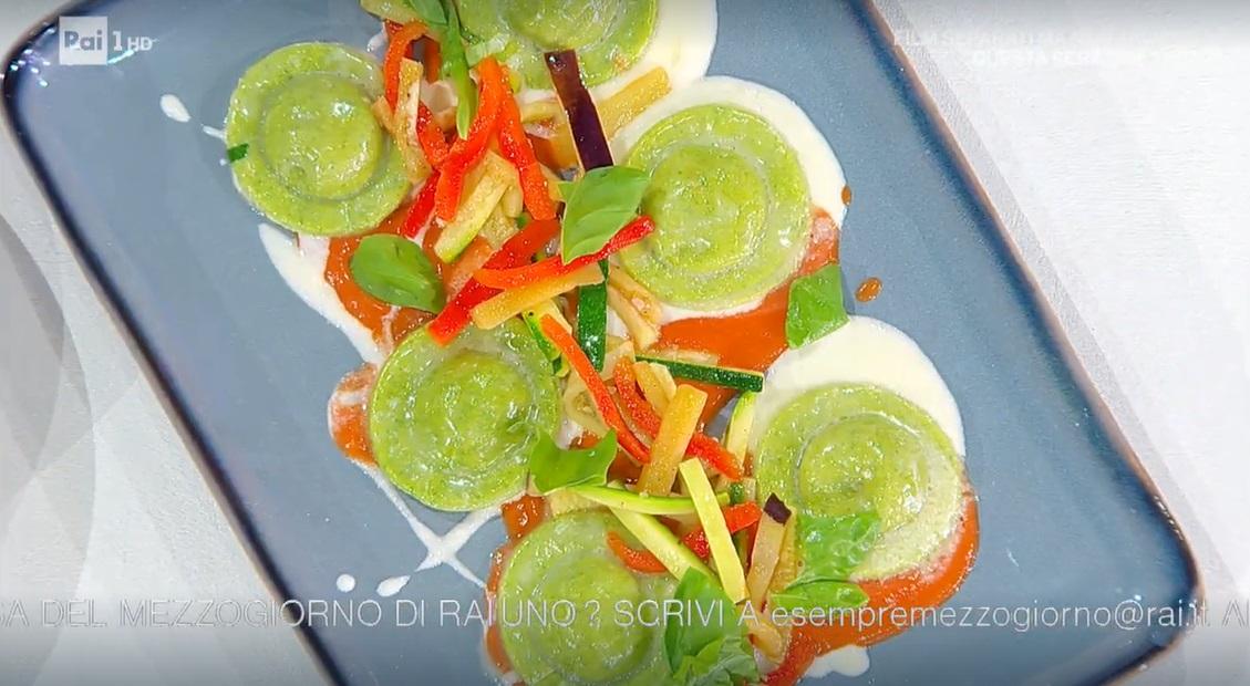 ravioli di melanzane e mozzarella di Gian Piero Fava