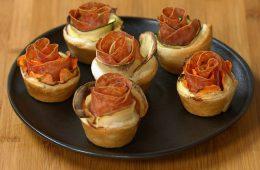 roselline di sfoglia salate