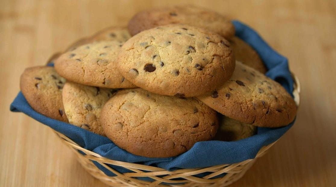cookies con ceci e cioccolato