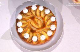 torta pesche e meringhe