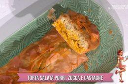 torta salata porri zucca e castagne di zia Cri