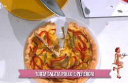 torta salata pollo e peperoni di zia Cri